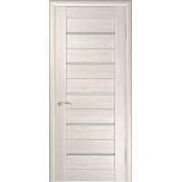 Дверь экошпон межкомнатная со стеклом ЛУ 22 капучино