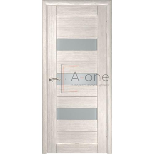 Дверь экошпон межкомнатная со стеклом ЛУ 23 капучино