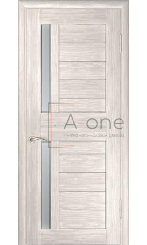 Дверь экошпон межкомнатная со стеклом ЛУ 27 капучино