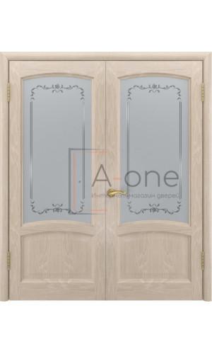 Двойная дверь остекленная Клио антик