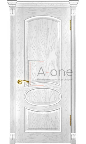 Дверь Грация дуб белая эмаль глухая