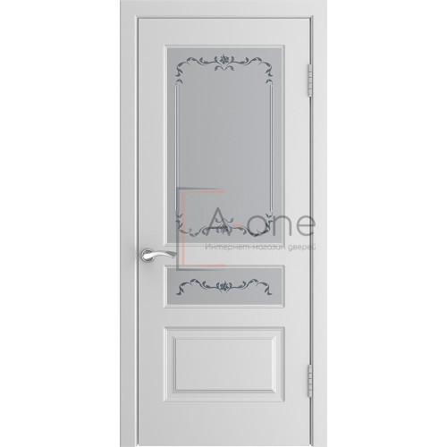 Ульяновская дверь эмаль L-2 белая остекленная