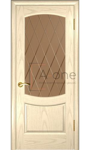 Межкомнатная дверь Лаура 2 дуб слоновая кость остекленная