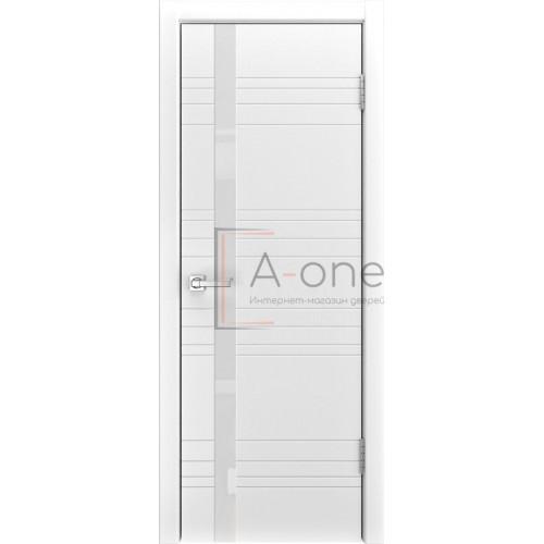 Ульяновская дверь белая эмаль A-1 с белым стеклом