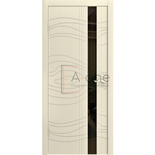 Дверь эмаль ваниль с черным стеклом LP 15