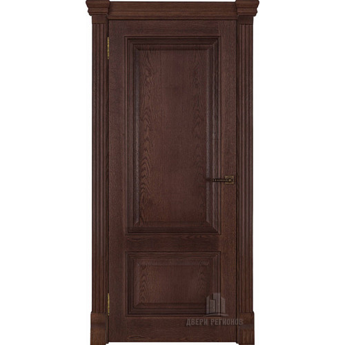 Ульяновские двери Regidoors Корсика натуральный шпон бренди глухое
