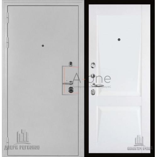 Входная дверь Колизей белое серебро с панель Перфекто 101 белый бархат