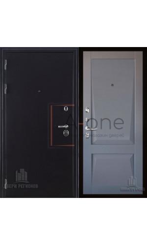 Входная дверь Колизей темное серебро с панель Перфекто 101 серый бархат
