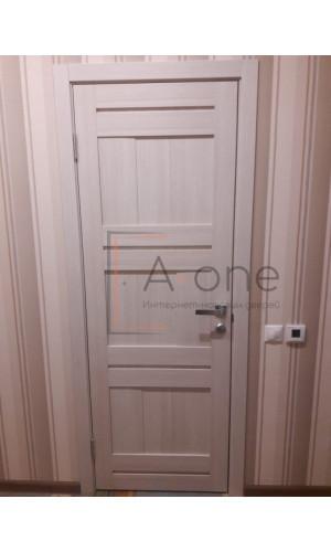 Двери межкомнатные экошпон Uberture Light 2180 цвет капучино велюр