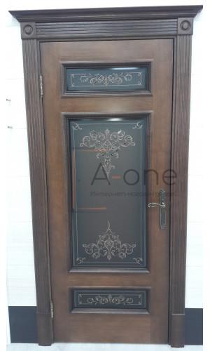 Белорусские двери PORTE VISTА Рим коньяк красный тон 19 стекло кристаллайз