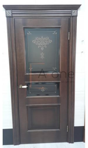Белорусские двери PORTE VISTA Флоренция Терзо орех остекленное