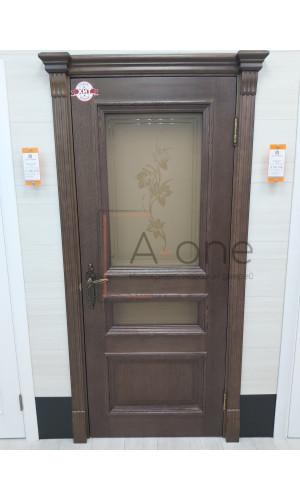 Ульяновские двери Regidoors Барселона натуральный шпон бренди остекленное