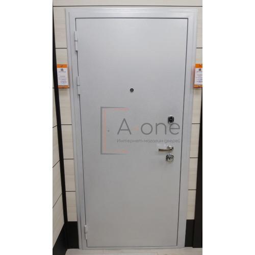 Колизей входная дверь белое серебро (дверь под панель)
