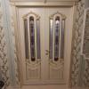 Ульяновские двери Regidoors Александрия - 2 эмаль слоновая кость с патиной, остекленная