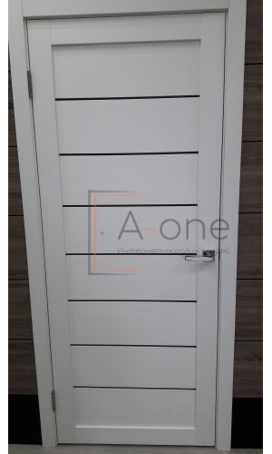 Двери межкомнатные экошпон Uberture Light 2125 цвет белый велюр