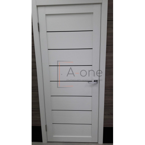 Дверь межкомнатная экошпон Uberture Light 2125 цвет белый велюр