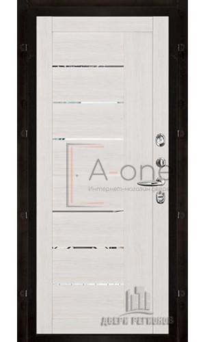 Панель для входной двери экошпон Light 2110 капучино вставки зеркало