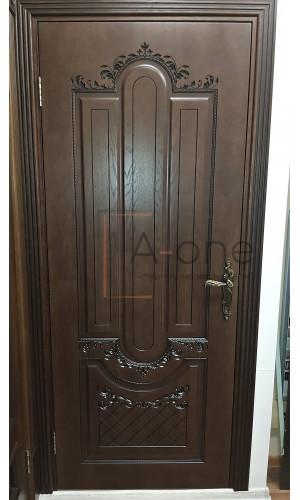 Александрия - 2 дверь шпон цвет мореный дуб