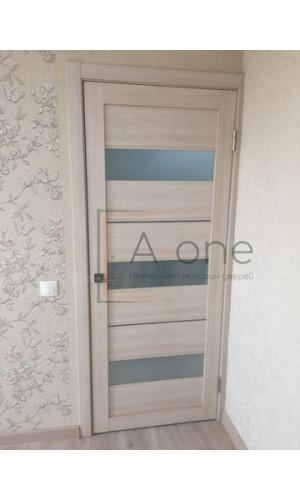 Двери межкомнатные экошпон Uberture Light 2126 цвет капучино велюр
