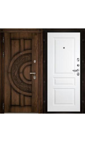 Атлант входная дверь с белой панелью Турин эмаль
