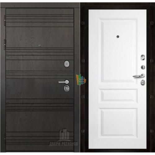 Министр входная дверь с белой панелью Турин эмаль