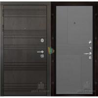 Министр входная дверь с серой панелью шпон Fusion grigio ral 7015
