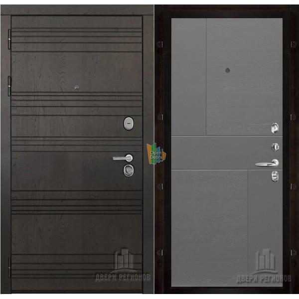Министр входная дверь с панелью шпон Fusion grigio ral 7015