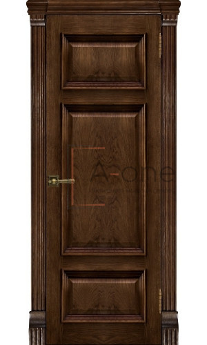 Мадрид шпон, Ульяновские двери, цвет бренди, глухое.