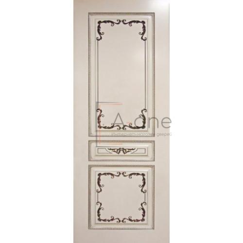 Вена — 2 дверь эмаль слоновая кость с патиной орех