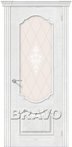 Дверь межкомнатная Париж шпон натуральный цвет