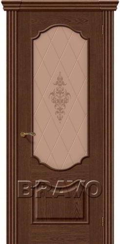 Дверь межкомнатная Париж цвет виски натуральный шпон