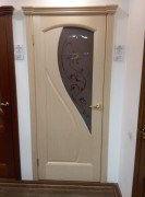 дверь Мария беленый дуб стекло