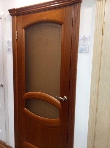 Дверь шпон Анастасия стекло анегри