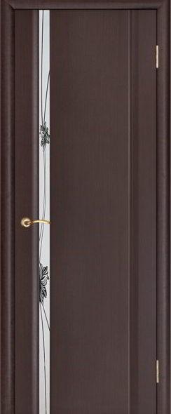 Стелла 1 венге зеркальный триплекс рисунок Лотос (Складская) (1)