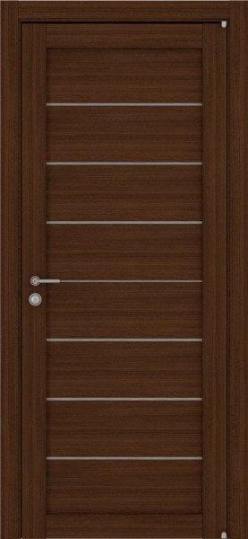 Двери из эко шпона недорого 2125 орех вельвет