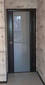 Техно 3 венге широкое стекло ульяновская дверь