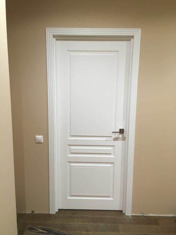 Белая дверь эмаль Ульяновская двери регионов