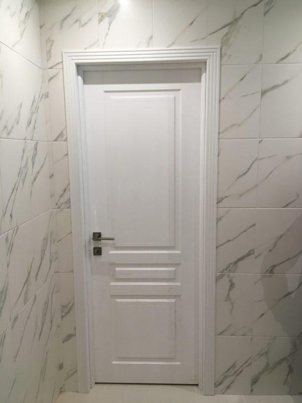 Белая межкомнатная дверь эмаль Турин