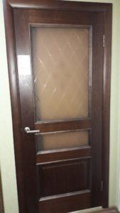 Дверь Милан орех ион 2 стекло