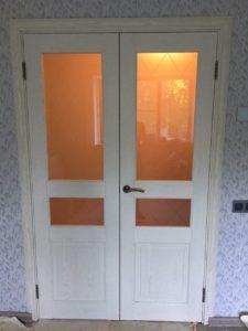 двойная распашная дверь экошпон