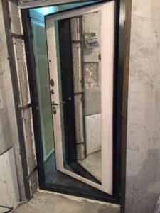 Президент входная дверь с зеркалом