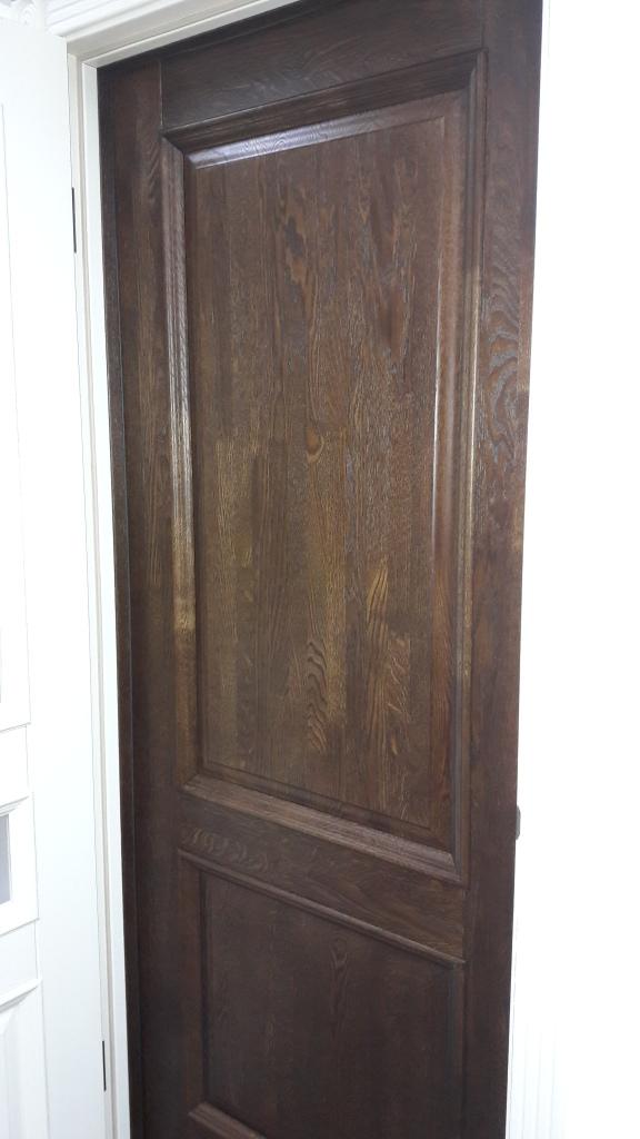массив дуба дверь селена античный орех глухая