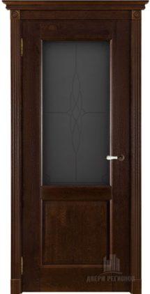 Селена двери массив беларусия античный орех стекло мателюкс с гравировкой