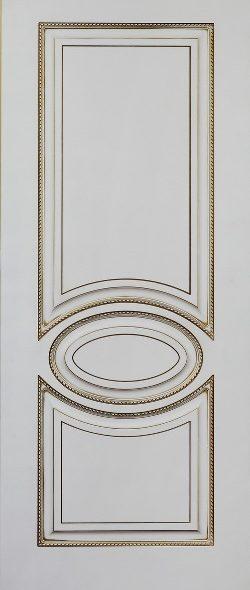 Верона 4 белая эмаль с патиной золото
