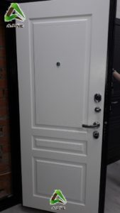 Внутренняя панель белая на входную дверь Турин эмаль