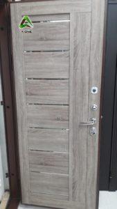 Внутренняя панель на входную дверь экошпон 2110 серый велюр