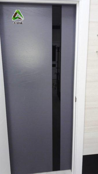 Uno Grigio ral 7015 стекло Lacobel черное