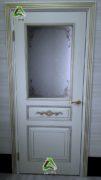 Дверь Лацио эмаль слоновая кость с золотом