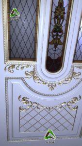 Александрия 2 эмаль слоновая кость + патина золото стекло