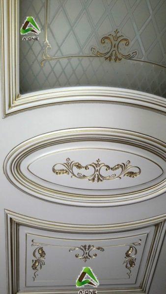 Багет 3 эмаль слоновая кость + патина золото стекло